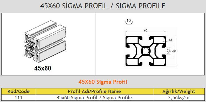 45x60 Sigma Profile