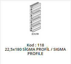 22,5x180 Sigma Profile