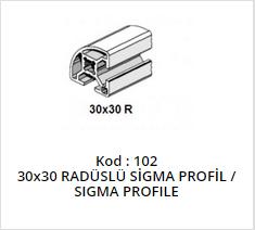 30x30 Sigma Profile Radius