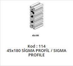 45x180 Sigma Profile