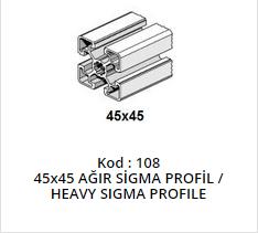 45x45 Sigma Profile Heavy
