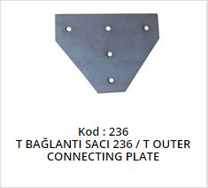 T Outer Connecting Plate
