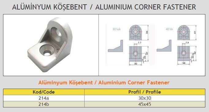 Aluminium Corner Fastener