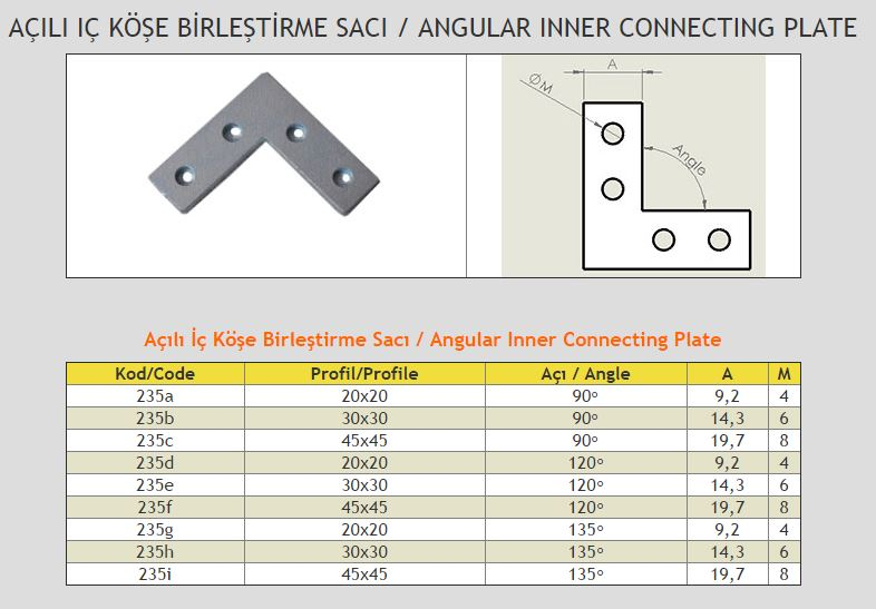 Angular Inner Connecting Plate