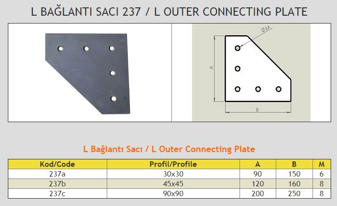 L Outer Connecting Plate