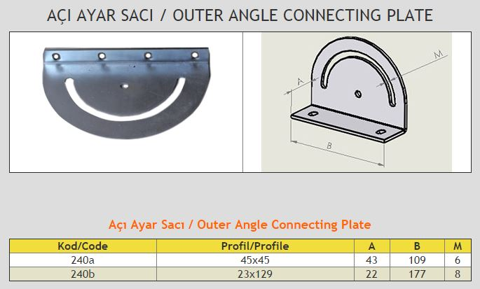 Outer Angle Connecting Plate
