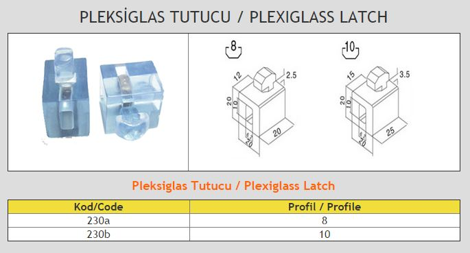 Plexiglass Latch