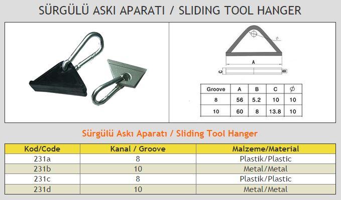 Sliding Tool Hanger