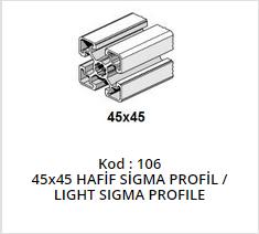 45x 45 Sigma Profile Light